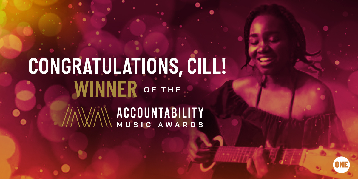 Congratulations Cill, Winner on the Accountability Music Awards 2019